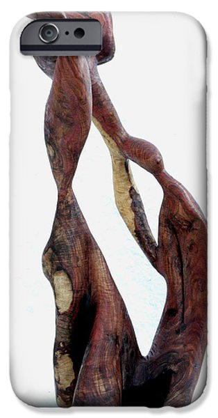 Abstract Sculptures iPhone Cases - Bailando 3 iPhone Case by Jorge Berlato