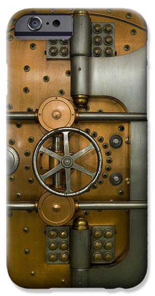 Bank Vault Door Exterior iPhone Case by Adam Crowley