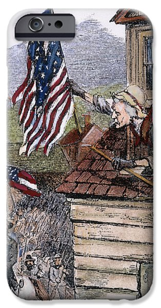 Old Glory iPhone Cases - Barbara Frietschie iPhone Case by Granger