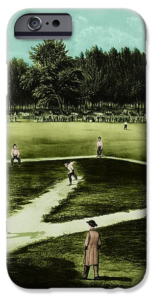 Baseball In 1846 iPhone Case by Omikron