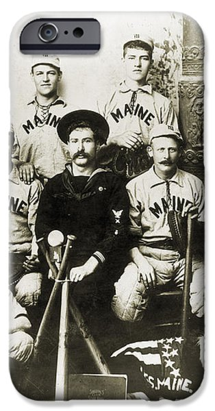 BASEBALL TEAM, c1898 iPhone Case by Granger