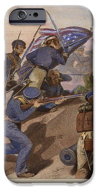 BATTLE OF CHURUBUSCO, 1847 iPhone Case by Granger