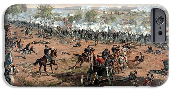 Warishellstore Paintings iPhone Cases - Battle of Gettysburg iPhone Case by War Is Hell Store