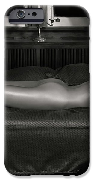 Beautiful Woman Sleeping Naked iPhone Case by Oleksiy Maksymenko