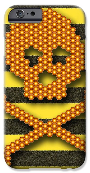 Disorder iPhone Cases - Bee Colony Collapse Disorder, Artwork iPhone Case by Stephen Wood