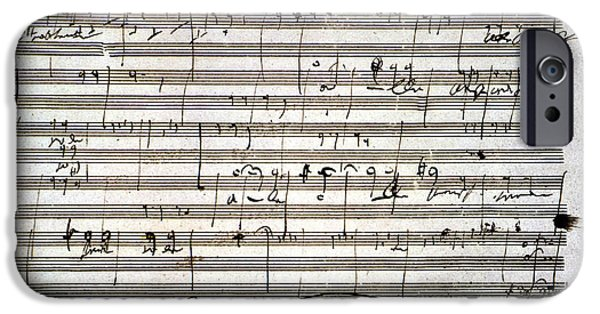 Sheets iPhone Cases - Beethoven Manuscript iPhone Case by Granger