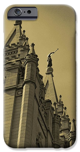Angel Moroni iPhone Cases - Behold I speak unto you  iPhone Case by Joshua House
