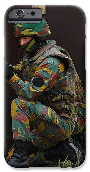 Belgian Paracommandos Entering iPhone Case by Luc De Jaeger