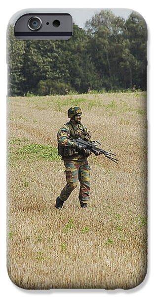 Belgian Paratroopers Proceeding iPhone Case by Luc De Jaeger