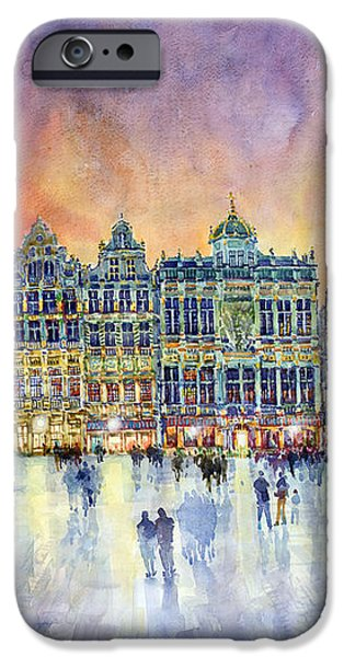 Belgium Brussel Grand Place Grote Markt iPhone Case by Yuriy  Shevchuk