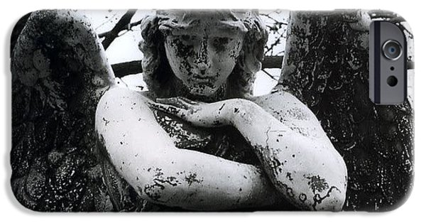 Mourn iPhone Cases - Bellefontaine Angel iPhone Case by Jane Linders