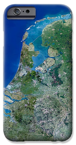North Sea iPhone Cases - Benelux Countries iPhone Case by Planetobserver