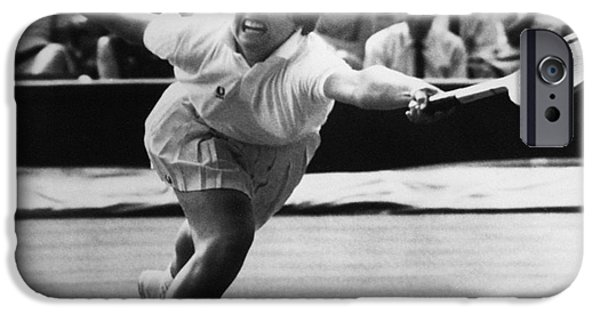 Billie Jean iPhone Cases - Billie Jean King (1943- ) iPhone Case by Granger