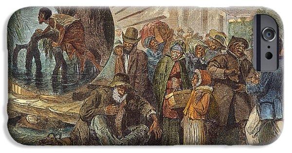Escape iPhone Cases - Black Exodus, 1880 iPhone Case by Granger