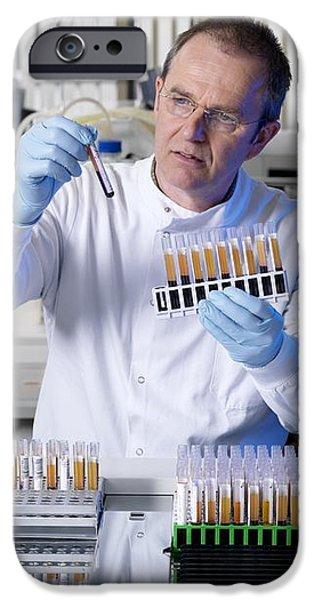 Blood Typing iPhone Case by Tek Image