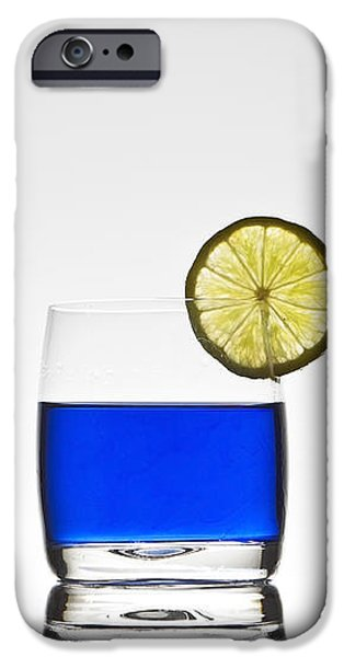 blue cocktail with lemon iPhone Case by Joana Kruse