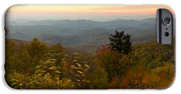 Blue Ridge Parkway iPhone Cases - Blue Ridge Parkway Linn Cove Viaduct Panorama  iPhone Case by Dustin K Ryan