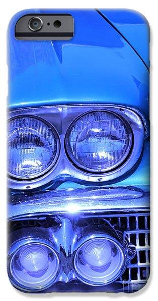 Blue Photographs iPhone Cases - Blue  iPhone Case by Sophie Vigneault