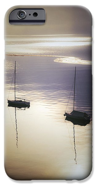 boats in mist iPhone Case by Joana Kruse
