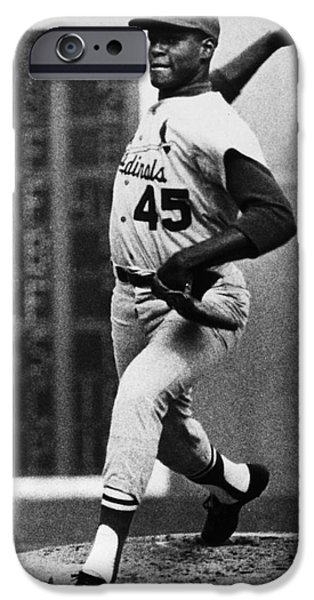 Pitcher iPhone Cases - Bob Gibson (1935- ) iPhone Case by Granger