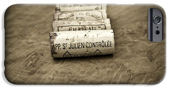 Wine Cellar iPhone Cases - Bordeaux Wine Corks iPhone Case by Frank Tschakert