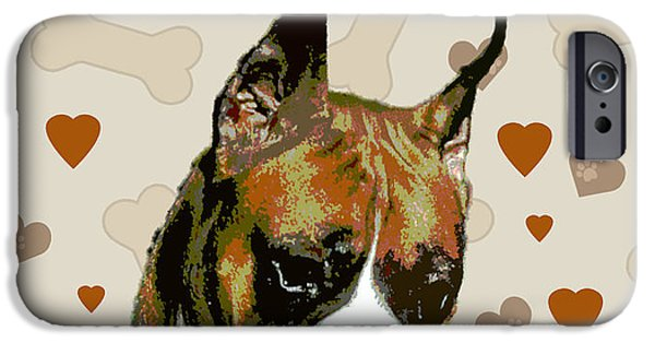 Boxer Digital Art iPhone Cases - Boxer iPhone Case by One Rude Dawg Orcutt