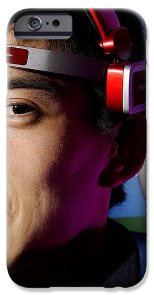 Brainwave-reading Headset iPhone Case by Volker Steger