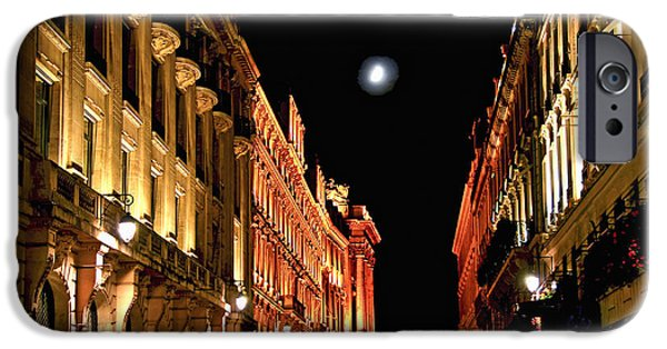 Illumination iPhone Cases - Bright moon in Paris iPhone Case by Elena Elisseeva