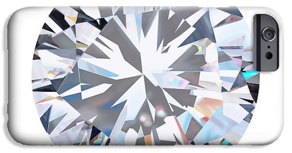 Color Image Jewelry iPhone Cases - Brilliant Diamond iPhone Case by Setsiri Silapasuwanchai