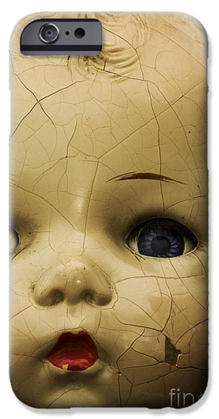 Old Blue Eyes iPhone Cases - Broken iPhone Case by Margie Hurwich