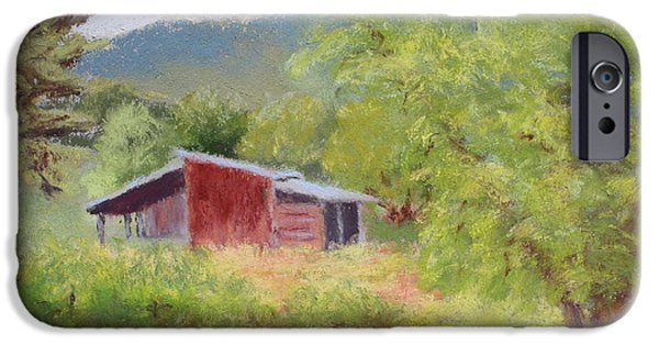 Best Sellers -  - Shed Pastels iPhone Cases - Browns Shed iPhone Case by Nancy Jolley