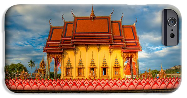 Buddhist iPhone Cases - Buddha Temple  iPhone Case by Adrian Evans