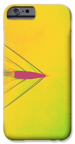 Bullet Through Air iPhone Case by Omikron