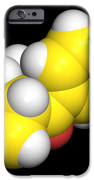 Bupropion Drug Molecule iPhone Case by Dr Tim Evans