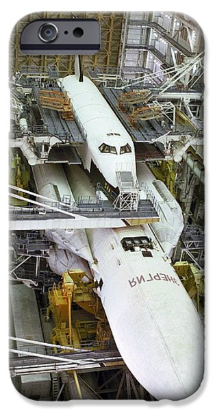 Space-craft iPhone Cases - Buran Space Shuttle Before Flight iPhone Case by Ria Novosti