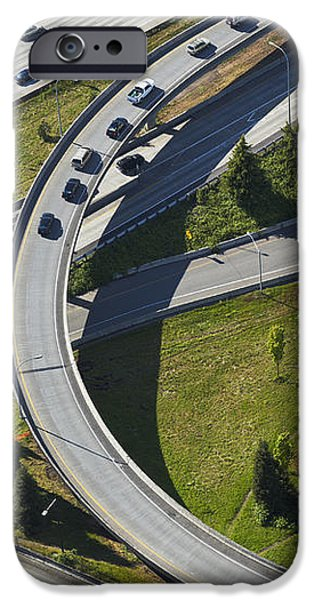 Busy Freeway Interchange iPhone Case by Don Mason