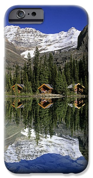 Cabins, Sargents Point, Lake Ohara iPhone Case by John Sylvester