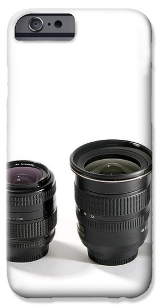 Camera Lenses iPhone Case by Johnny Greig