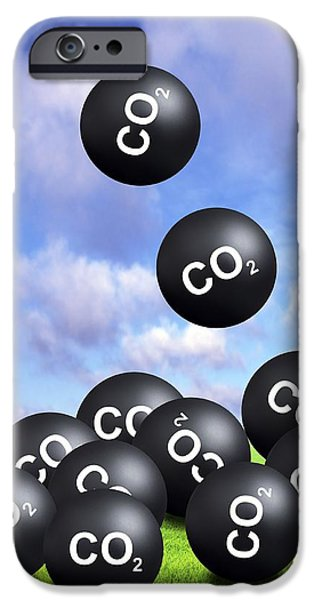 Carbon Dioxide And Climate Change iPhone Case by Victor De Schwanberg