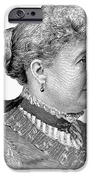 America First Party iPhone Cases - Caroline Lavinia Harrison iPhone Case by Granger