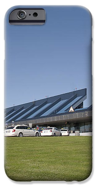 Cars Lining Up For Pickup at the Airport iPhone Case by Jaak Nilson