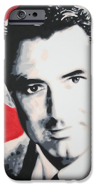 Ludzska Photographs iPhone Cases - Cary Grant iPhone Case by Luis Ludzska