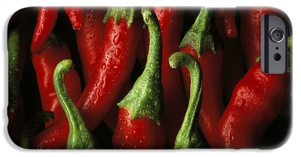 Hot Peppers iPhone Cases - Cayenne iPhone Case by Daniel Troy