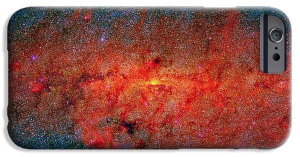 Stellar iPhone Cases - Center Of Milky Way Galaxy, Infrared iPhone Case by 2MASS project / NASA