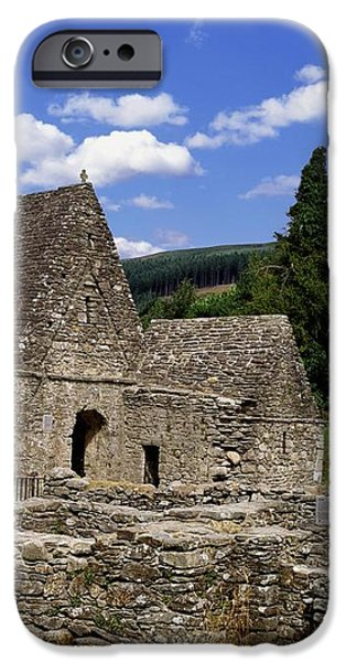 Chapel Of Saint Kevin At Glendalough iPhone Case by The Irish Image Collection