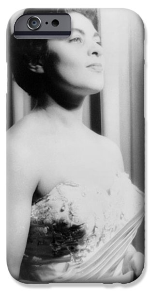 Operatic iPhone Cases - Charlotte Holloman (1922-) iPhone Case by Granger