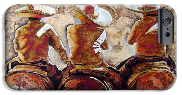 Papers iPhone Cases - Charros iPhone Case by Jose Espinoza