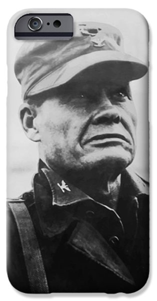 Ww2 iPhone Cases - Chesty Puller iPhone Case by War Is Hell Store