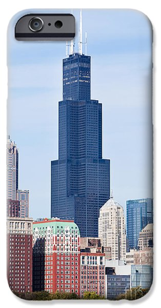 Sears Tower iPhone Cases - Chicago Buildings with Sears-Willis Tower iPhone Case by Paul Velgos