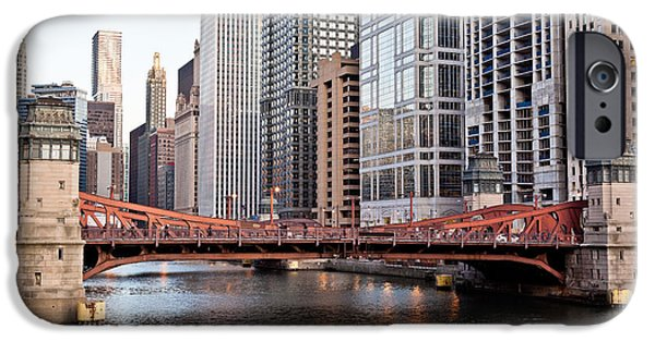 Airline iPhone Cases - Chicago Downtown at LaSalle Street Bridge iPhone Case by Paul Velgos